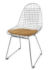Silla Eames Metálica - Tapizado Tostado