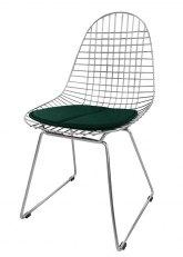 Silla Eames Metálica - Tapizado Verde Ingles