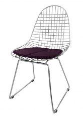 Silla Eames Metálica - Tapizado Violeta