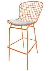 Taburete Bertoia Pintado Ultra - Tono Naranja
