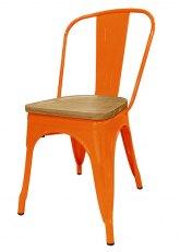 Silla Tolix Madera Plus - Tono Naranja