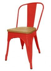 Silla Tolix Madera Plus - Tono Rojo