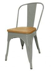 Silla Tolix Madera Plus - Tono Plata Viejo Texturado