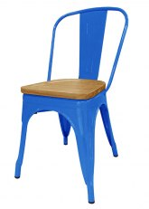 Silla Tolix Madera Plus - Tono Azul Claro