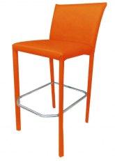 Taburete Perla - Tapizado Naranja