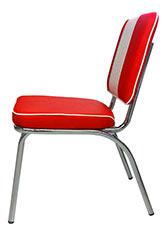 Silla American Square Vintage - Tapizado Rojo