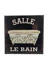 Cuadro Le Bain Salle - Negro