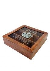 Caja de Te Crown - Madera tono Caramelo