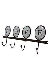 Perchero de Pared Love - Marron
