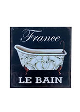 Cuadro Bain France - Negro
