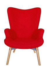 Sillón Dinasty - Tapizado Rojo
