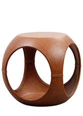 Puff Air Leather - Tapizado Capuchino