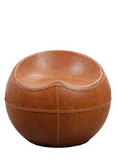 Puff Circle Leather