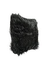 Almohadón Peludo negro