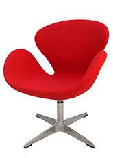 Sillón Swan - Tapizado Rojo