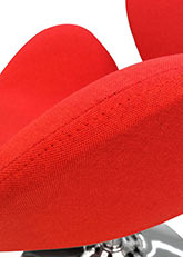 Sillón Swan Circular - Tapizado Rojo