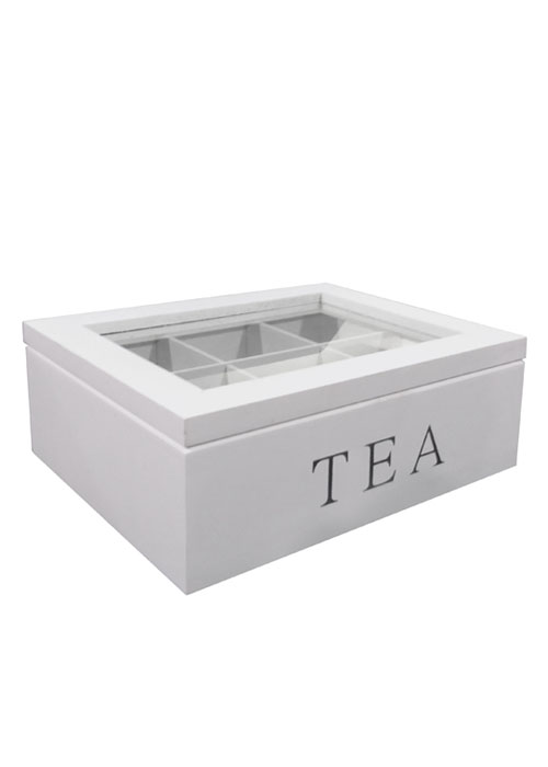 Caja de te White Glass
